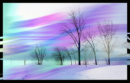 Stroked landscape by Olga