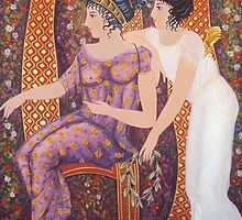 Nemesis and Tyche at the Judgement of Paris by Jane Saunders