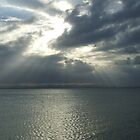 Sunray Peaking Through Clouds At Scabrorough by mbutwell