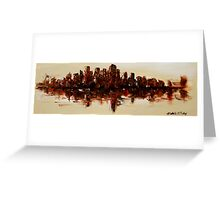 The Dark City on the Water Greeting Card