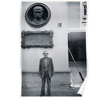 Man and Broom, Ukraine Poster