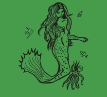 Mermaid with octopus and assorted fish by Fiona Lokot