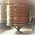 Going around prayer wheel by SRana