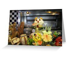 Mr Cauliflower Head Greeting Card