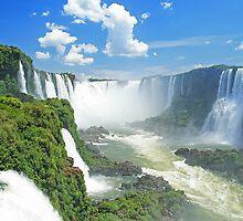Iguassu Falls - Brazil by Miguel De Freitas