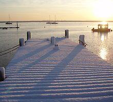 Snow on the River Crouch by AC Faithfull