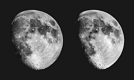 Moon in 3D by Duncan Waldron