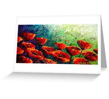 The Poppy Burst Greeting Card