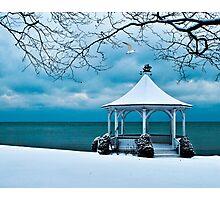 Gazebo along Lake Ontario Photographic Print