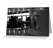 the corner cafe - lambeth Greeting Card