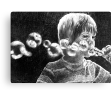 The bubble blower Canvas Print