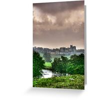 """""""A Constable View of Alnwick Castle"""" Greeting Card"""