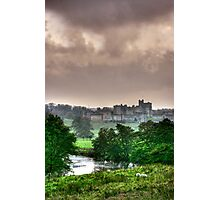 """A Constable View of Alnwick Castle"" Photographic Print"