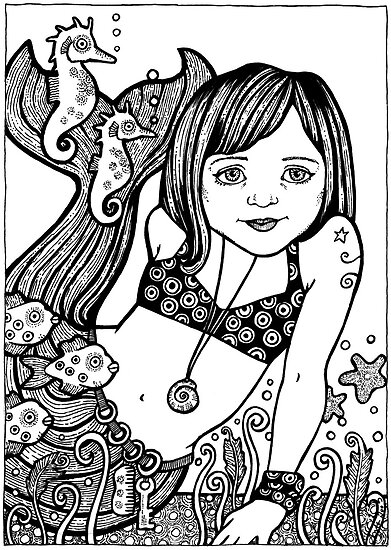 Wee Mermaid by Anita Inverarity