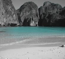 The Beach - Maya Bay, Thailand by Ginelle Colombo