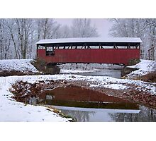 Lairdsville Covered Bridge In Winter Photographic Print