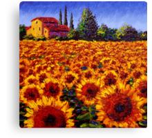 Provençal Sunflowers Canvas Print