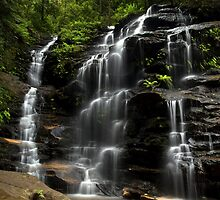 Tumbling Down - Sylvia Falls, Blue Mountains NSW by Malcolm Katon