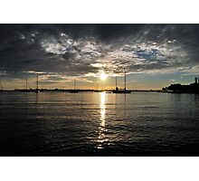 Silver Sunset Photographic Print