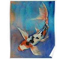 Sanke Butterfly Koi Poster