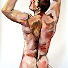 Young Lad - Back study in oils by Arzeian