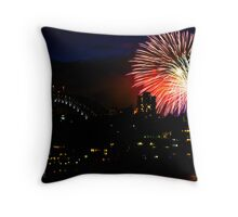Sydney Harbour Fireworks - New Years Eve  Throw Pillow