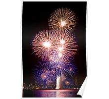 The First Bang - Sydney Harbour - New Years Eve - Midnight Fireworks Poster