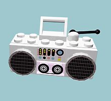 Brick Hop LEGO Ghetto Blaster by geekmorris