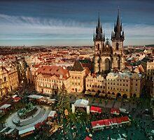 Old Town Square, Prague, Czech Republic by Stevacek