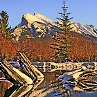 Mount Rundle by Christopher B Smyth