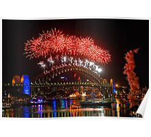 Sydney New Years Eve Fireworks 2009 - 2010 Sydney Harbour Bridge Poster