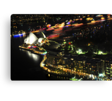 New years eve Sydney 09 - the boats head home Canvas Print