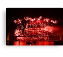 Sydney Fireworks 2009-2010 p1 Canvas Print
