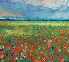 Poppy Field by Michael Creese