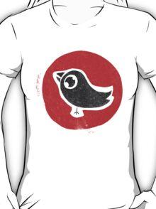 bird print T T-Shirt