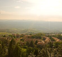 View from Volterra by Sandy  Taylor Photography