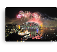 Let There Be Light #5 - Sydney New Years Eve 2009 Canvas Print