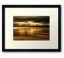 Donabate Strand in December Framed Print