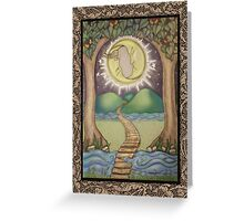 The Moon Tarot Fantasy Card Greeting Card