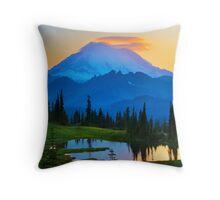 Mount Rainier Goodnight Throw Pillow