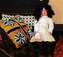 Doll on Couch by Susan Savad