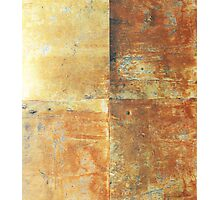 Speeches Oxide 2 - abstract painting on canvas Photographic Print