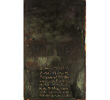 Dark Chant - original acrylic painting on wood panel Photographic Print