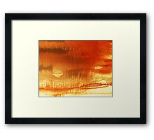 Thorns 2 - original acrylic abstract painting on canvas Framed Print