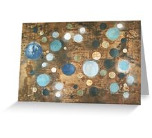 All That Blue Behind - original abstract painting on canvas Greeting Card