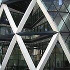 The Gherkin Building London EC3A - letters M, W, V and X by Anina Arnott