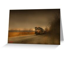 """ Rail  ""  Greeting Card"