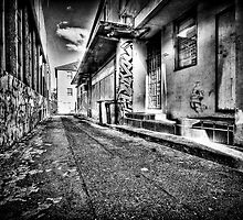 The Slums Of Taree B&W by Matthew Jones
