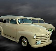 "1948 Chevrolet Suburban Carryalls ""The Twin Suburban Carryalls"" by TeeMack"