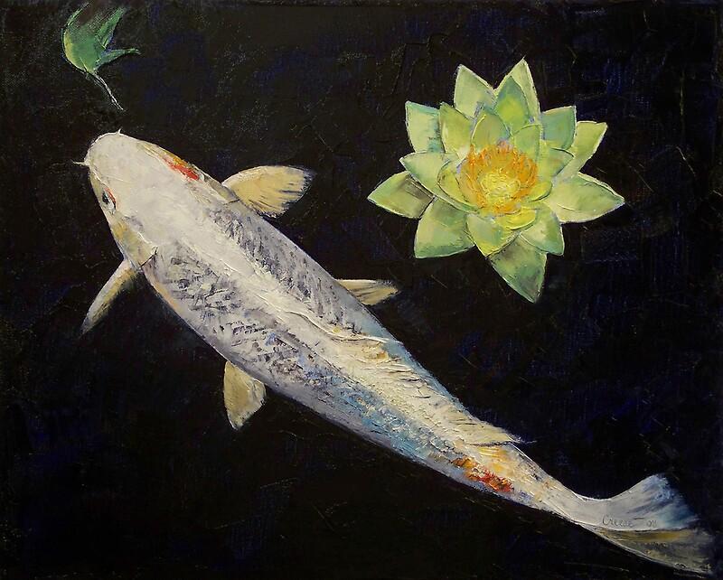 Platinum ogon koi by michael creese redbubble for Platinum koi fish